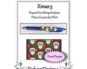Bead Pattern Peyote(Pen Wrap/Cover)-Xmas 3