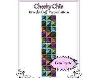 Bead Pattern Peyote(Bracelet Cuff)-Cheeky Chic