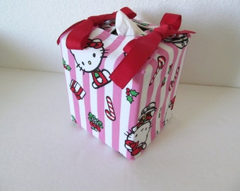 Tissue Box Cover/Christmas Hello kitty
