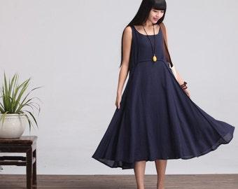 Linen maxi dress  Etsy