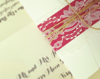 Vineyard Wedding Invitation - SAMPLE