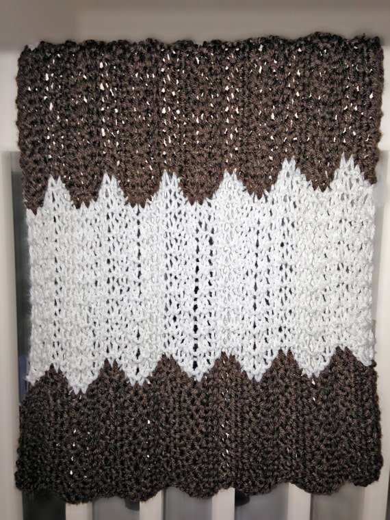 Archers Chevron Blanket Knit PATTERN
