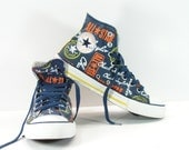 converse all star shoes womens 9 blue chuck taylor sneakers canvas mens 7