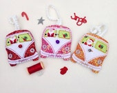 Sparkly Campervan Christmas Decorations