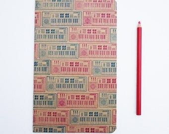 Casio Keyboard notebook, large moleskine synthesizer journal