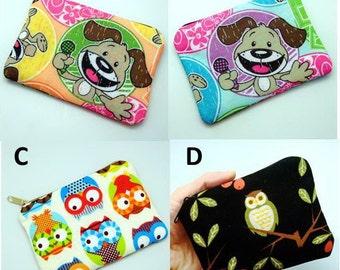 Earphone case, Zipper pouch, coin purse, card case, key bag (padded)