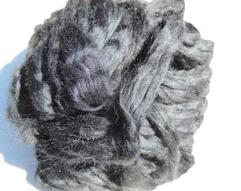 Ashland Bay Black Tussah Silk Roving 2 Ounces