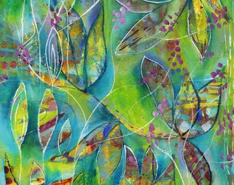 Be Brave print of acrylic painting