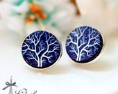 20% off -NEW Unique 3D Embossed Tree 16mm Round Handmade Wood Cut Cabochon to make Rings, Earrings, Bobby pin,Necklaces, Bracelets-(WG-159)