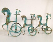 Frederic Weinberg Style Etruscan Rider & Chariot Sculptures