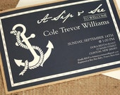 Sip and See Invitation, Anchor Invitation, Boy Baby Shower, Nautical Shower Invitation, DEPOSIT