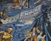 1979 Excellent Vintage Star Wars The Empire Strikes Back Curtains Set Pleated Fabric