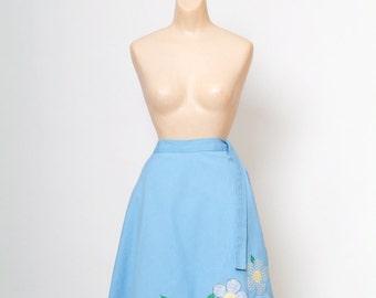 Skirt - Wrap Around Skirt Vintage 70s