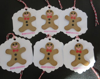 6 - Gingerbread Men Holiday Gift Tags
