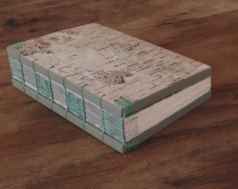 white birch bark journal or wedding guest book - rustic wood book cabin guest book memorial vacation home sketchbook - Made to Order