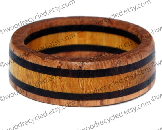wooden rings gift wedding engagement anniversary