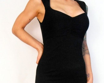 Black  Pin Up Girl  Wiggle Dress with Trumpet Flair XXL - Ready To Ship