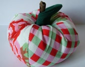 Large Apple pin cushion or home decoration.