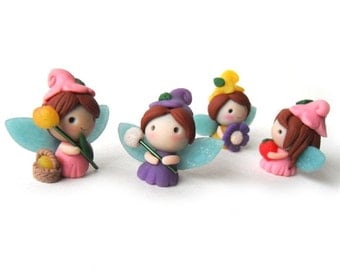 Adorable Polymer Clay Figure - Fairy / Elf / Butterfly