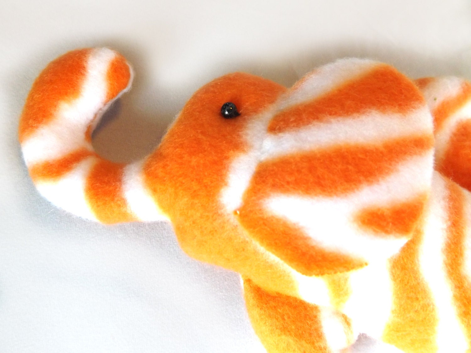 Plush tiger striped silly elephant fish bahamut for Tiger striped fish
