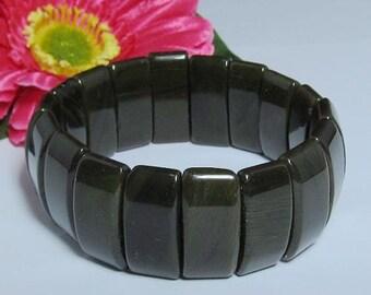 smoky Obsidian stretchy Bracelet