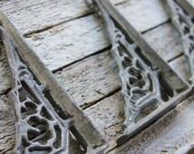 Bracket, Shelf Brackets, Metal Shelf Bracket, Iron Shelf Bracket, Wall Bracket, Shelf Bracket, Gray Brackets, Gray Wall Decor, Gray Wall Art