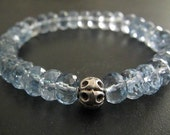 Aquamarine Bracelet | March Birthstone | Stack Bracelet | Layering Jewelry | Aquamarine Gemstone Bracelet | Summer Jewelry