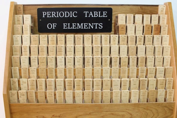 BOOKMARK, Periodic Table of Elements Wooden Bookmark, all elements available, Paul Szewc, Masterpiece Gallery
