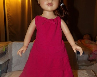 Dark pink sundess for 18 inch Dolls - ag244