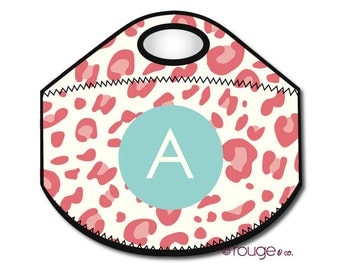 CHEETAH monogrammed lunch tote - with customizable pattern and monogram