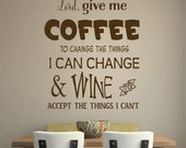 Lord give me coffee- Vinyl Lettering wall words quotes graphics decals Art Home decor itswritteninvinyl