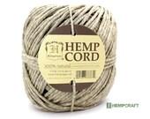Natural Hemp Cord, 170 lb Natural Eco Friendly Thick Hemp Twine, 210ft
