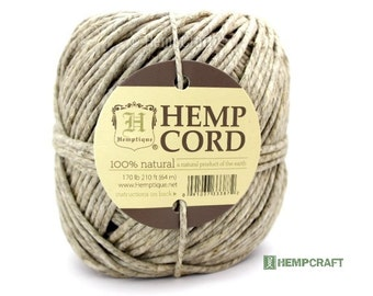 Natural Hemp Cord, 170 lb Natural Eco Friendly Thick Hemp Twine, 210ft