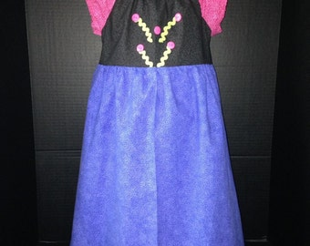 Princess Anna Inspired Boutique Peasant Dress