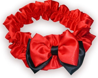 Adorable Red Ruffle Vintage Belt  with Beautiful Two Layer Bow Fit most Size