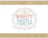 Custom Logo - PreDesigned Logo - PreMade Logo - Vector Logo - OOAK Logo - WHISPY THISTLE  Logo Design - Scroll Work Logo - Vintage Logo