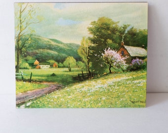 8 x 10 Vintage Litho Fine Print Robert Wood Early Spring Farmhouse Decor Cottage Decor Ready to Frame