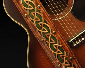 Custom Leather Guitar Strap: Autumn Dara Guitar Strap
