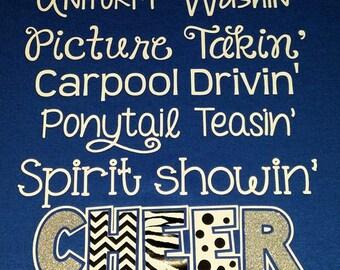 I'm A Cheer Mom shirt, ORIGINAL DESIGN, Love my Cheerleader, Cheerleader shirt, Team Spirit Shirt,  by The Walnut Street House