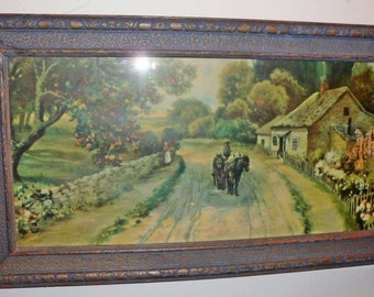 Antique Vintage COTTAGE Print