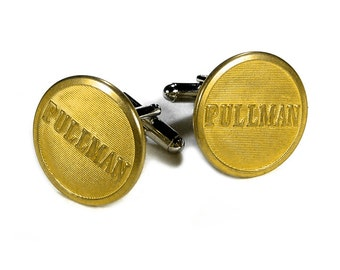 Steampunk Cufflinks Mens Vintage Steam Engine PULLMAN RAILROAD Transit Industrial Locomotive Era Great GIFT - Jewelry by Steampunk Boutique