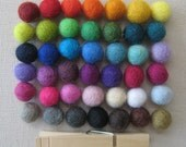 1.5cm Wool Felt Balls  up to 250- Your Choice of Colors and Quantity