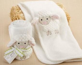 Personalized Plush Velour 3-D Lamb Blanket