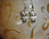 Owl, Earrings, Jewelry, Owl Earrings, Owl Jewelry, Bronze Earrings, Charm Earrings, Bird Earrings, Brass Earrings, Charm Jewelry, Owl Charms