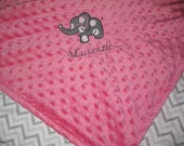 Personalized baby blanket. Made with soft minky fabric