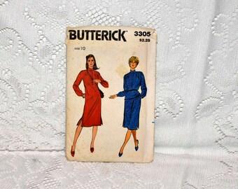 Butterick Dress, Top, Skirt Pattern Number 3305  Size 10