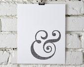 Ampersands & hash marks, letterpress print