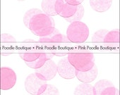 "PINK TISSUE Paper CONFETTI -- choose from: 1/2"" 3/4"" and 1"" Circles, Hearts, Butterfly, Daisy Flowers -- pif.pay it forward.aok"