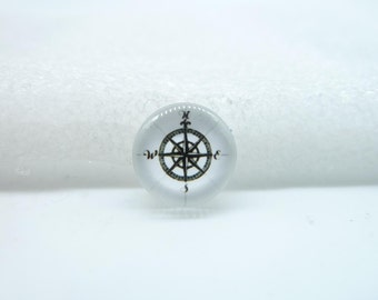 10pcs 12mm Handmade Photo Glass Cabochons(Compass)  GB57-34