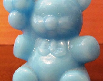 SWEETHEARTSALE   Vintage Boyd Glass Company Patrick Baby Blue Bear with Balloons